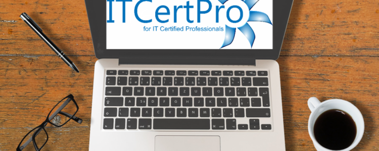 Desk with Laptop and ITCertPro Logo